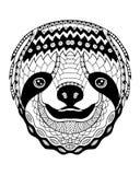 Zentangle di bradipo stilizzato illustrazione a mano libera di vettore fotografia stock libera da diritti