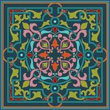 Zentangle diseñó el elemento geométrico del modelo del ornamento Ornamento tradicional de Oriente Boho diseñó Geométrico abstract Foto de archivo