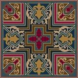 Zentangle diseñó el elemento geométrico del modelo del ornamento Ornamento tradicional de Oriente Boho diseñó Geométrico abstract Imágenes de archivo libres de regalías