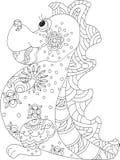 Zentangle do dragão ilustração stock