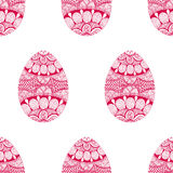 Zentangle Easter Egg seamless pattern. Hand Drawn Royalty Free Stock Images