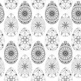 Zentangle easter eggs. For art. Seamless pattern Royalty Free Stock Photos