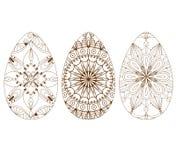 Zentangle easter eggs. Design element for art Stock Image