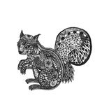 zentangle Eichhörnchen Stockfoto
