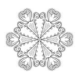 Zentangle elegant snow flake. Vector winter illustration for dec Stock Image