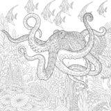 Zentangle estilizó el acuario ilustración del vector