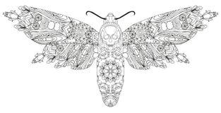 Zentangle estilizó la mariposa Ejemplo dibujado mano del vector del cordón libre illustration