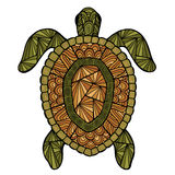 Zentangle estilizado do estilo da tartaruga Foto de Stock