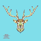 Zentangle estilizou a cabeça dos cervos Esboço para a tatuagem ou Imagens de Stock