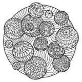 Zentangle färgläggningbok Arkivfoton