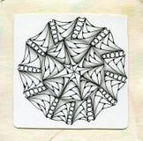 Zentangle för vektorhennatatuering Ny och enkel stil Sida för färgläggningbok Arkivbild