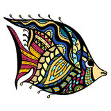 Zentangle Fish Royalty Free Stock Photo
