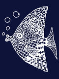 Zentangle fish Stock Images
