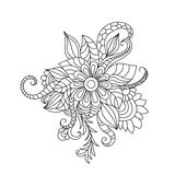 Zentangle floral pattern. Stock Image