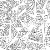 Zentangle geometry royalty free stock images
