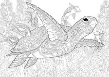Zentangle gestileerd aquarium vector illustratie