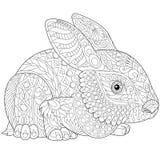 Zentangle gestileerd konijntje royalty-vrije illustratie