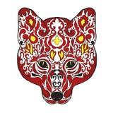 Zentangle gestileerd voshoofd Schets voor tatoegering of t-shirt Royalty-vrije Stock Foto