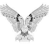 Zentangle gestileerde adelaar royalty-vrije illustratie