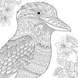 Zentangle gestileerde kookaburravogel Royalty-vrije Stock Afbeelding