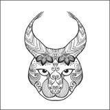 Zentangle gestileerde lynx Stock Foto