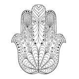 Zentangle gestileerde mandala Stock Afbeelding