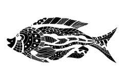 Zentangle gestileerde Vissen Stock Fotografie