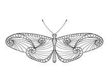 Zentangle gestileerde vlinder Royalty-vrije Stock Afbeelding