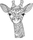 Zentangle giraffe Stock Photography