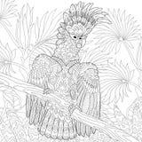 Zentangle ha stilizzato il pappagallo di cacatua Fotografia Stock Libera da Diritti