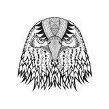 Zentangle ha stilizzato la testa dell'aquila Schizzo per il tatuaggio o la maglietta Fotografia Stock Libera da Diritti