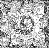 Zentangle hand drawn monochrome background royalty free illustration