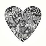 Zentangle-Herz Lizenzfreie Stockfotos