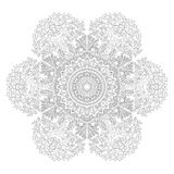 Zentangle-Hintergrund, Tapete, Beschaffenheit, Muster Runde Mandala, Schablone für Webdesign, Postkarten, Flieger, Plakat Stockfoto