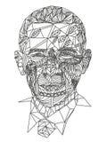 Zentangle kopierte Mannillustration lizenzfreie abbildung
