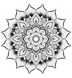 Zentangle mandala background Royalty Free Stock Photo