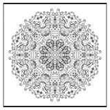 Zentangle mandala - coloring book page for adults, relax and meditation, vector, doodle Royalty Free Stock Photography