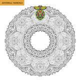 Zentangle-Mandala - Malbuchseite für Erwachsene, entspannen sich und Meditation, der Vektor und kritzeln Lizenzfreies Stockfoto