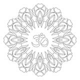 Zentangle mandala, page for adult colouring book, vector design element. Ornamental round doodle star isolated on white background. Digital Rosette vector illustration