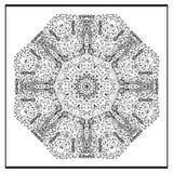 Zentangle mandala - sidan för färgläggningboken för vuxna människor, kopplar av och meditationen, vektorn, klotter Royaltyfria Bilder