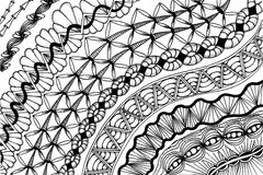Zentangle - meditative drawing Royalty Free Stock Images