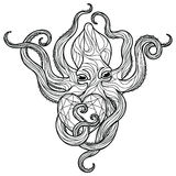 Zentangle octopus Stock Photography
