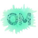 Zentangle Om symbol. Aum, ohm Stock Photos