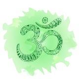 Zentangle Om symbol. Aum, ohm Royalty Free Stock Photo