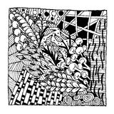 Zentangle ornament, sketch for your design Stock Photography
