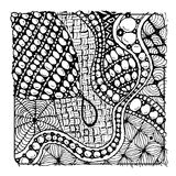 Zentangle ornament, sketch for your design Stock Photos