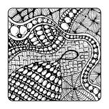 Zentangle ornament, sketch for your design Stock Image