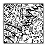 Zentangle ornament, sketch for your design Royalty Free Stock Photography