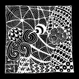 Zentangle ornament, sketch for your design Stock Photo