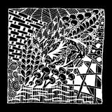 Zentangle ornament, sketch for your design Stock Images